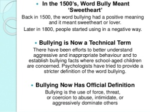 """getting to the origin of bullying History unity day speaking in your – pacer's national bullying prevention center uses the term """"bullying prevention"""" instead of """"anti-bullying."""